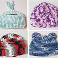 Crocheted baby hats - Newborn