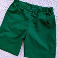 Boys Green Shorts with Pockets - Size 6 only