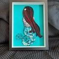 Mermaid,  Baby Decor, Mermaid paper picture