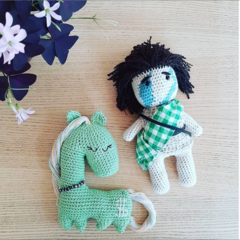Hollywood Horse and Mr Freedom - soft toys