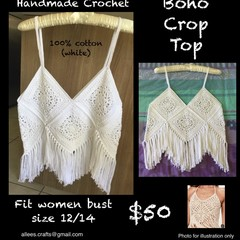Boho Crop Top Crochet