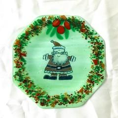 Green Santa Plate.