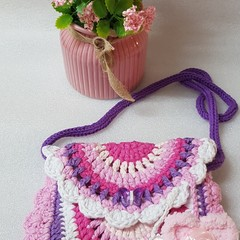 Hand Crocheted girl's bag