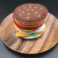 Felt Hamburger, Pretend Play Food, ITH Embroidered Felt Hamburger
