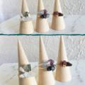 Gemstone wire wrapped ring , Black Rutilated Quartz Mookaite Agate Fluorite