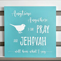 Timber Wall art - JW quote