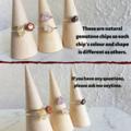 Dainty gemstone wire wrapped ring , Jasper Citrine Rose Quartz Amethyst Garnet