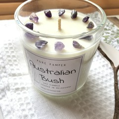 Purple Gemstones Soy Candle - Select your fav fragrance