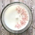 Mini Rose Quartz Gemstones/Crystals Soy Candle | Gift for her | Pamper