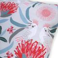 Australian Cockatoos and Flora - Cushion Cover