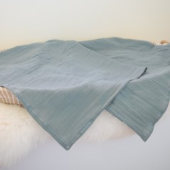 XL Cheesecloth baby swaddle wrap - Sage