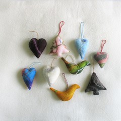 9 Felted Christmas Decorations #54