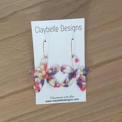 Acrylic Flower Hoops