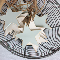CUSTOM LISTING Wooden Star Natural Decoration