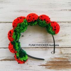 Pom Pom Headband Watermelon Pom pom Headband Christmas Stocking Stuffer