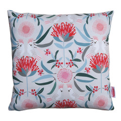 Australian Cockatoos and Flora - Cushion Cover