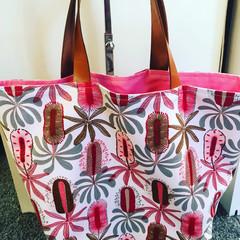 Pink Wattle Tote Bag