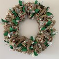 Handmade Christmas wreath for sale in green, red, white and natural colours