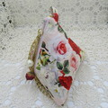 Women's Pyramid Wristlet - Evening, Day, Wedding,  Party - Blush Red Rose