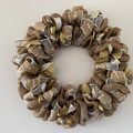Handmade Christmas wreath for sale in gold, white and natural colours