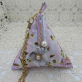 Women's Pyramid Wristlet - Evening, Day, Wedding, Race Day, Party - Mauve Grey