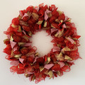 Handmade Christmas wreath for sale in red, gold and white