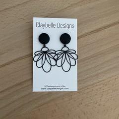 Black Flower Charm Dangle