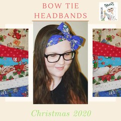 Christmas Bow Tie Headband