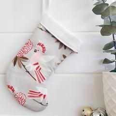 Mini Christmas Stocking- Galahs