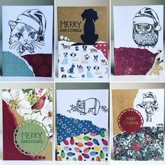 4 x MINI CHRISTMAS CARDS- assorted designs