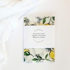 Handmade Australian Organic Beeswax Wraps Lemon Saver Christmas