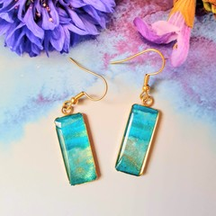 Unique, Handcrafted Blue Drop Earrings