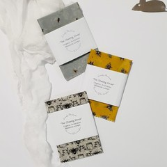 Organic Australian Beeswax Wraps Cheese Lovers Set Unique Male Christmas Cift