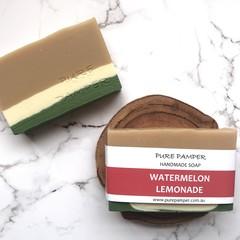 Handmade Soap - watermelon lemonade - Vegan
