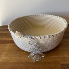 Silver Christmas Tree Basket