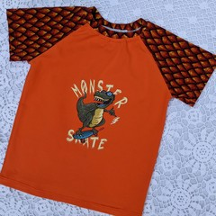 Orange Monster Skate Tee Sizes 3 & 5