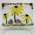 Yellow daisies wall hanging.