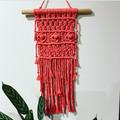 Hot pink Aztec macrame wall hanging