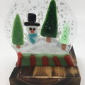 Snow globe candle holder