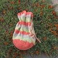 Mother's Day SALE: Project bag or beach bag cotton, crochet,
