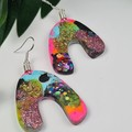 UpDown Cloud Confetti  -  Drop Earring -  Resin - Dangle earrings