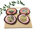 Double creek pebble leather earrings,  pink leather earrings