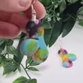 Cloud Confetti  -  Drop Earring -  Resin - Dangle earrings