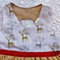 Metallic Deer with Gold Christmas Dress Size 6