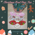 Christmas Knot Hair Ties (Faux Leather)