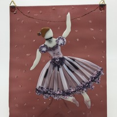 Portrait of a ballerina in glass.