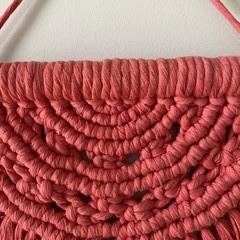 Hot pink Semi circle macrame wall hanging