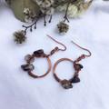 Antique copper Hoop dangles
