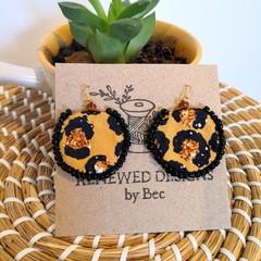 Leopard Round Dangle Earrings