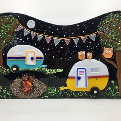 Camping under the stars wall art